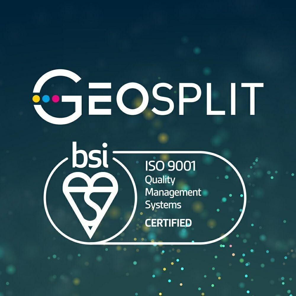 GEOSPLIT was certified with ISO 9001:2015 and achieved BSI Group certification